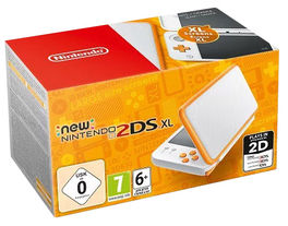 Consola New Nintendo 2DS XL Blanco Naranja - 2DS